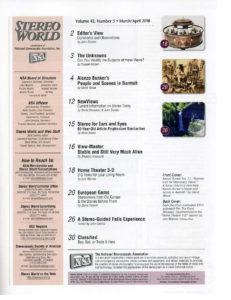 Stereo World Magazine (contents) Vol 43 No 5